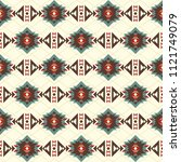 seamless pattern with american... | Shutterstock .eps vector #1121749079