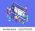 people team work together in... | Shutterstock . vector #1121751323