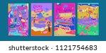 set of summer illustration for... | Shutterstock .eps vector #1121754683