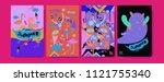 set of summer illustration for...   Shutterstock .eps vector #1121755340