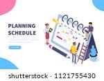 planning schedule concept...   Shutterstock . vector #1121755430