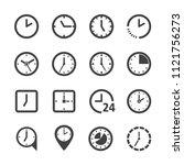 clock icon set | Shutterstock .eps vector #1121756273