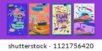 set of summer illustration for...   Shutterstock .eps vector #1121756420