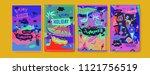 set of summer illustration for...   Shutterstock .eps vector #1121756519