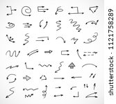 hand drawn arrows  vector set   Shutterstock .eps vector #1121758289