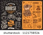 coffee restaurant menu... | Shutterstock .eps vector #1121758526