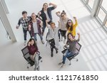 top view scene of asian and...   Shutterstock . vector #1121761850