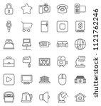 thin line vector icon set  ... | Shutterstock .eps vector #1121762246