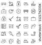 thin line vector icon set  ...   Shutterstock .eps vector #1121762336