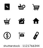 vector sale and shopping icons... | Shutterstock .eps vector #1121766344