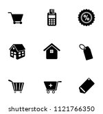vector sale and shopping icons... | Shutterstock .eps vector #1121766350