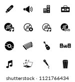 vector sound music icons set  ...