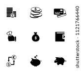 vector money collection  ... | Shutterstock .eps vector #1121766440
