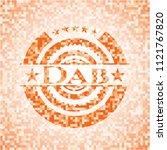 dab orange mosaic emblem | Shutterstock .eps vector #1121767820