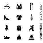 vector fashion design illustrations - woman shopping icons set. beauty accessories collection | Shutterstock vector #1121771864
