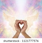 sending love and gratitude to... | Shutterstock . vector #1121777576