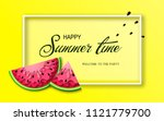 summer time banner with pieces... | Shutterstock .eps vector #1121779700