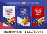independence day usa sale... | Shutterstock .eps vector #1121780096