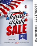 independence day usa sale... | Shutterstock .eps vector #1121780099