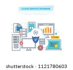 cloud service database.... | Shutterstock . vector #1121780603