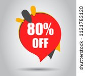 sale 80  off discount price tag ... | Shutterstock .eps vector #1121783120