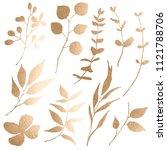 handpainted watercolor flowers... | Shutterstock . vector #1121788706