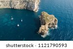 aerial view of three white...   Shutterstock . vector #1121790593