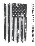 grunge usa flag. american flag... | Shutterstock .eps vector #1121795933
