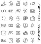 thin line vector icon set  ...   Shutterstock .eps vector #1121796350