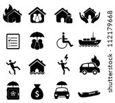 accident icon set in black | Shutterstock .eps vector #112179668