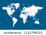 color world map vector | Shutterstock .eps vector #1121798153
