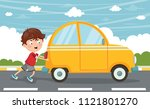 vector illustration of kid... | Shutterstock .eps vector #1121801270