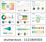 colorful analysis charts set... | Shutterstock .eps vector #1121804303