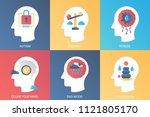 vector concept autism  balance  ... | Shutterstock .eps vector #1121805170