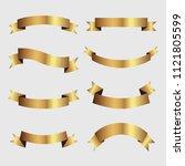 set of golden ribbons vector.   Shutterstock .eps vector #1121805599