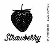 strawberry fruit vector  ... | Shutterstock .eps vector #1121809499