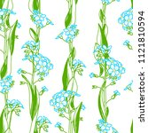 vector forget me nots seamless... | Shutterstock .eps vector #1121810594