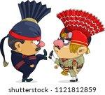 the comic caricature. cartoon.... | Shutterstock .eps vector #1121812859