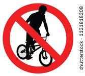 forbidden extreme sport game ... | Shutterstock .eps vector #1121818208