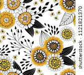 seamless pattern made of... | Shutterstock .eps vector #1121821370