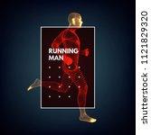 3d running man. design for... | Shutterstock .eps vector #1121829320