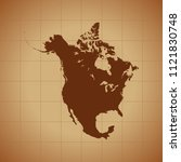 map of north america   Shutterstock .eps vector #1121830748
