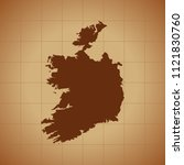 map of ireland   Shutterstock .eps vector #1121830760