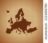 map of europe   Shutterstock .eps vector #1121830784
