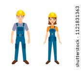 illustration of two young... | Shutterstock . vector #1121831363