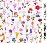 your garden guide. top 50 most... | Shutterstock .eps vector #1121833706