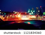 blurred background   inside car ... | Shutterstock . vector #1121834360