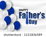 happy father s day calligraphy... | Shutterstock .eps vector #1121836589