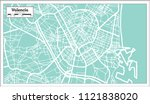 valencia spain city map in... | Shutterstock .eps vector #1121838020