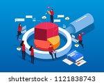 business big data analysis | Shutterstock .eps vector #1121838743
